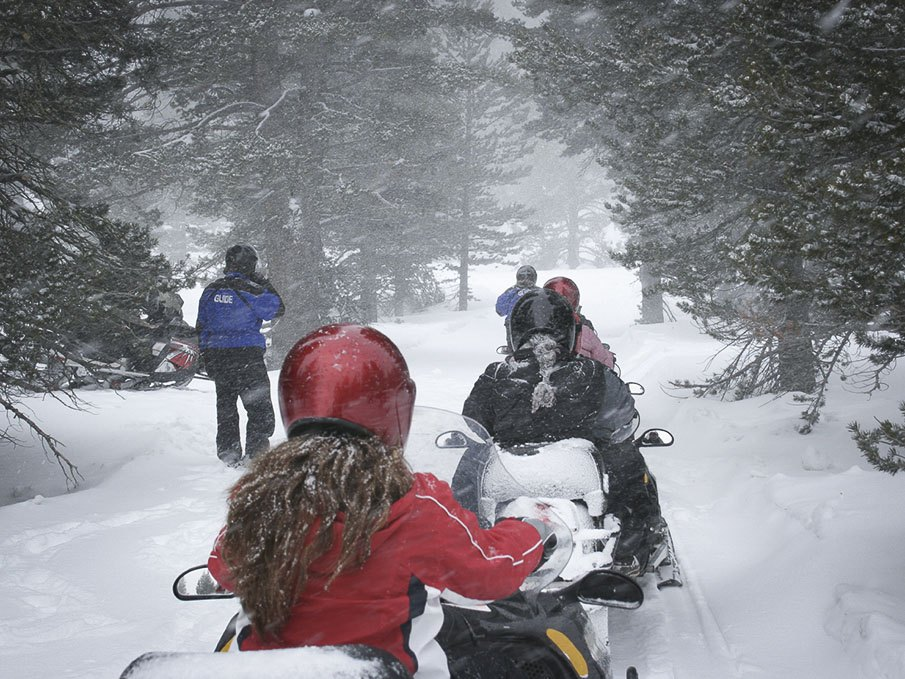 Lake Tahoe Snowmobile Tours, Olympic Valley