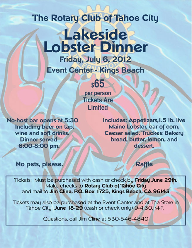 Lakeside Lobster Dinner
