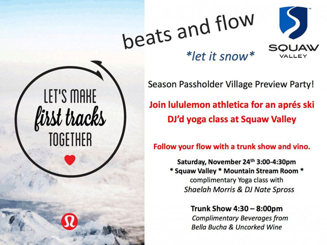 Squaw Season Passholder Village Preview Party: Beats and Flow
