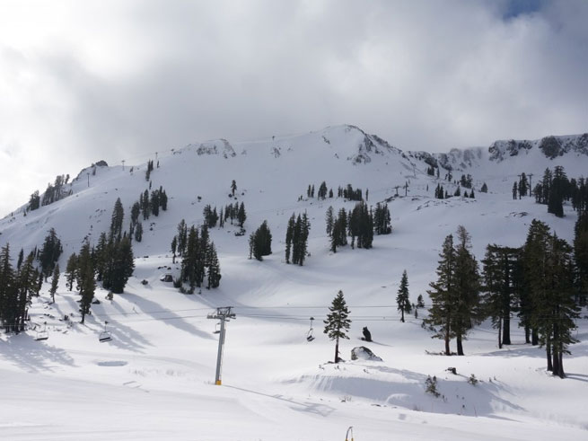 Two Feet Of New Snow At Squaw Valley